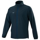 MIZUNO 男裝 外套 立領 套裝 4WAY彈性 抗紫外線 平織 深灰【運動世界】32TC158508