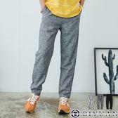 【OBIYUAN】寬褲 韓系亞麻棉 修身打摺 休閒長褲 素面工作褲  共3色【JN4168】