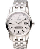 TITONI Master Series 天文台認證機械腕錶-銀/39mm 83588S-297