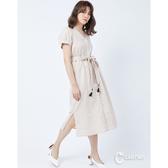 CANTWO開襟綁帶流蘇綴飾排釦洋裝-二色~春夏新品單一特價