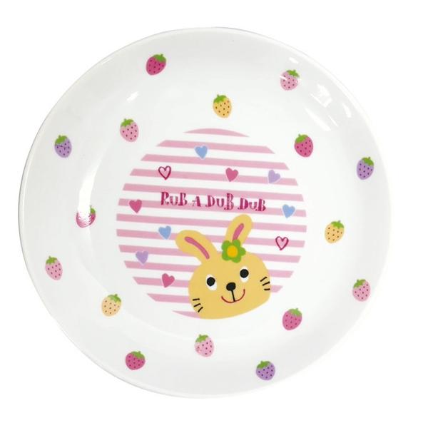 【日本製】【Rub a dub dub】輕巧瓷盤 兔子圖案 SD-9177 - Rubadubdub