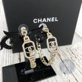 BRAND楓月 CHANEL 香奈兒 2020年款 新款 雙C LOGO 鎖鍊 大圈圈 珍珠 鑲鑽 耳環