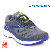 【BROOKS】男款避震型慢跑鞋 GHOST 11 4E 超寬楦-灰藍色(884E006)-【全方位運動戶外館】