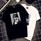 (全館一件免運費)DE SHOP~(T-057)寬鬆上衣氣質圖案學生短袖t恤短袖上衣