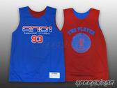 AND1 球衣 雙面穿 籃球背心 漸層 #93 寶藍紅 肌肉人 練習衣 T4033-0F2【Speedkobe】