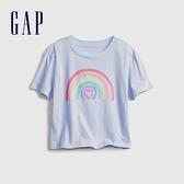 Gap女童 純棉印花短袖T恤 833947-淡紫色
