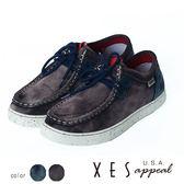 男鞋 休閒鞋 率性寬楦 麂皮刷皮 XES 綁帶 休閒鞋 _經典咖