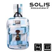 【南紡購物中心】SOLIS【雲豹迷彩系列】City Classic平板電腦背包