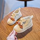 女童靴子2019秋季新款加絨兒童馬丁靴公主短靴秋冬寶寶單靴1-3歲2