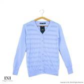 【INI】柔感彈性、輕鬆百搭織紋小外套.水藍色