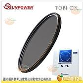 送濾鏡袋 SUNPOWER TOP1 HDMC CPL 95mm 95 航太鋁合金 防潑水 鏡片濾鏡 偏光鏡 湧蓮公司貨 台灣製