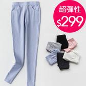 長褲 螺紋超彈性鉛筆褲貼身小腳長褲【X02】 BOBI  05/05