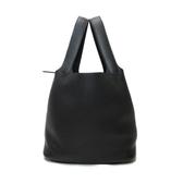 HERMES 愛馬仕 BK黑色銀扣Taurillon Clemence Picotin Lock bag MM/D刻 【BRAND OFF】