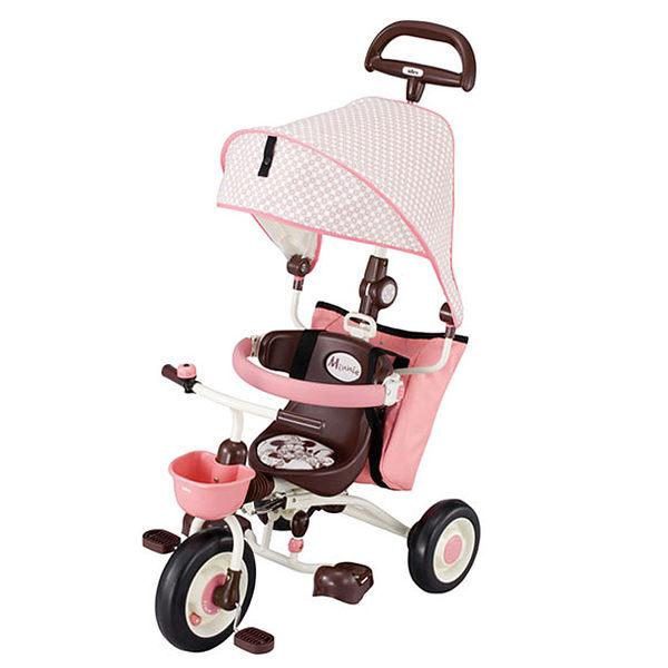日本 ides 米奇米妮限定款 敞篷摺疊車 (粉紅色車款)