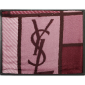 YSL經典LOGO色塊雪綿蓋毯禮盒(紫紅)989208-51