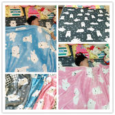 韓國原單小熊法蘭絨云貂絨毛毯辦公室蓋毯午睡毯單雙人珊瑚絨毛毯