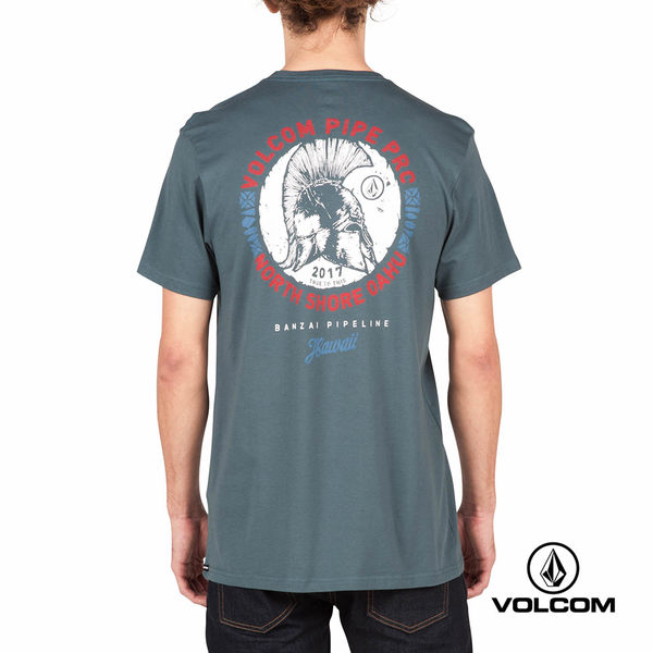 VOLCOM PIPE PRO 公益聯名款 Modern fit 短袖T-Shirt-藍