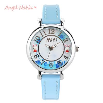 兒童手錶畢業禮物-韓國mini正品【SWA0110】 童話立體粉雕手工軟陶錶-夢幻城市