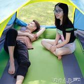 野餐墊 戶外野餐防潮墊子自動充氣墊雙人加厚5cm三人寬帳篷午睡墊床便攜   全館免運DF
