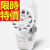 陶瓷錶-流行素雅氣質女腕錶56v31【時尚巴黎】