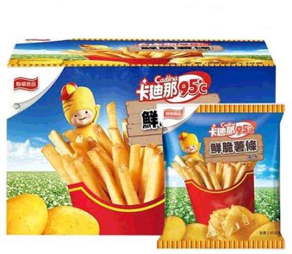低溫宅配 C117409 卡廸那95℃鮮脆薯條鹽味 60公克 X 10包