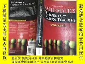 二手書博民逛書店Mathematics罕見for Elementary School Teachers 5thY19583 T