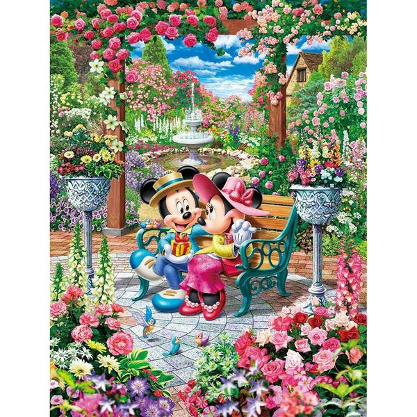 Tenyo拼圖 500純白小片 米奇米妮戀愛花園_BF85218