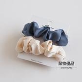大腸圈綢緞小腸發圈皮筋女扎頭 韓國簡約發飾發繩【聚物優品】