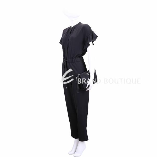 PRADA 經典三角牌尼龍化妝/手挽包(黑色) 1840593-01
