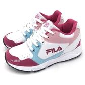 《7+1童鞋》FILA  3-J808T-155  韓系高筒  鞋帶款 機能鞋  運動鞋  4262  桃色