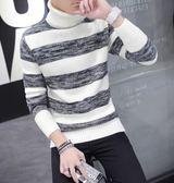 男士長袖T恤秋冬季高領毛衣男裝針織上衣 新主流