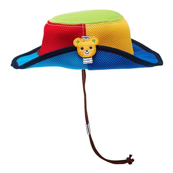 MIKI HOUSE 抗UV普奇熊遮陽牛仔帽