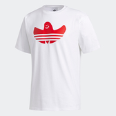 J-adidas GRAPHIC SHMOO 男裝 女裝 短袖 休閒 情侶 幽靈LOGO 棉質 白 透氣 舒適 GD3107