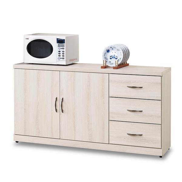 餐櫃【時尚屋】[G17]白栓木5尺碗盤櫃G17-A298-2免組裝/免運費/餐櫃