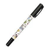 KAMIO JAPAN 黑色油性雙頭簽字筆奇異筆迪士尼TSUM TSUM 風格手繪