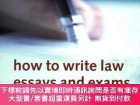 二手書博民逛書店How罕見To Write Law Essays & ExamsY464532 S. I. Strong Ox