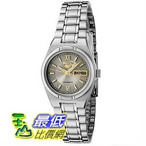 [美國直購] Seiko 5 SYM703 Women s Stainless Steel Gray Dial Day Date Automatic Watch 女士手錶