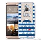 ✿ 3C膜露露 ✿【藍色條紋*硬殼】HTC ONE ME手機殼 手機套 保護套 保護殼
