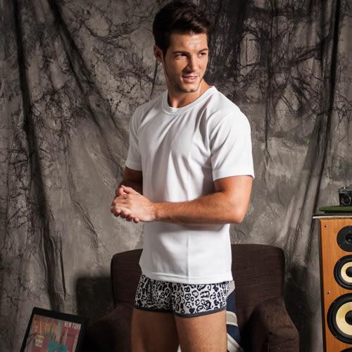 【OSK】Sexii Hippo【灰豹紋】性感中腰彈力貼身內褲(男8428平口褲)