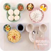 卡通可愛分格小碟小吃調味碟家用餐具醬油碟mj3966【棉花糖伊人】