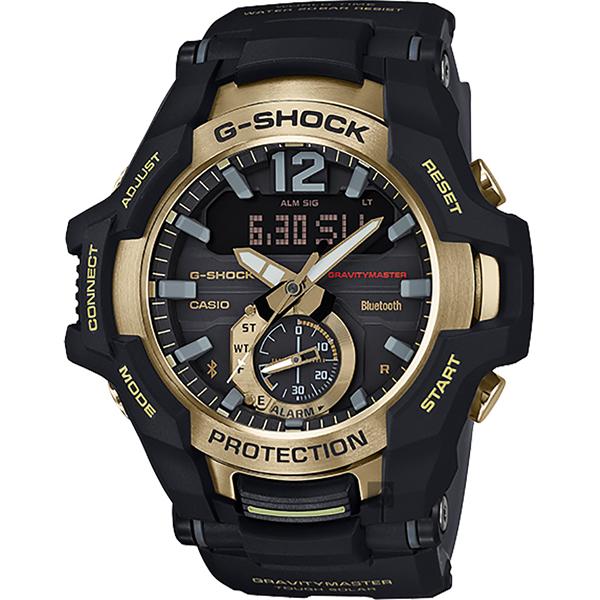 CASIO 卡西歐 G-SHOCK 飛行員太陽能藍牙手錶-金 GR-B100GB-1A/GR-B100GB-1ADR 比漾廣場