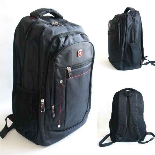 潮流堂  十字商務時尚超大容量多層15吋筆電可加扣鎖後背包 26733