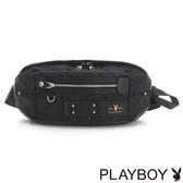 PLAYBOY- 單肩背包 性格迷彩系列-黑色