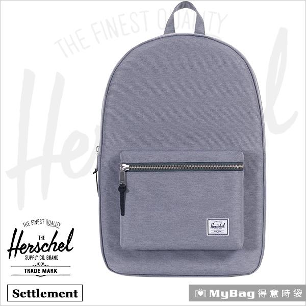 Herschel 後背包 15吋休閒電腦後背包 麻花灰 Settlement-2137 得意時袋