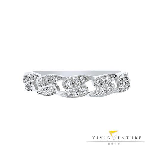 鑽石戒指 造型女戒 13分 白K台 亞帝芬奇 獨特精緻