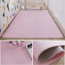 地毯臥室茶幾地毯臥室滿鋪可愛女生臥室床邊...