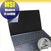 【Ezstick】MSI Modern 14 B4MW 靜電式筆電LCD液晶螢幕貼 (可選鏡面或霧面)