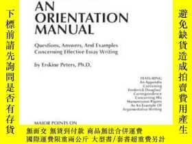 二手書博民逛書店Fundamentals罕見Of Essay Writing: An Orientation Manual - Q
