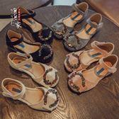 夏季新款兒童鞋子防滑軟底包頭中大童公主鞋女童涼鞋潮 免運直出 交換禮物