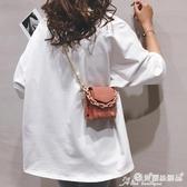 柳釘包 迷你包包女包2020新款韓版鉚釘手提小方包錬條百搭側背斜背零錢包 愛麗絲